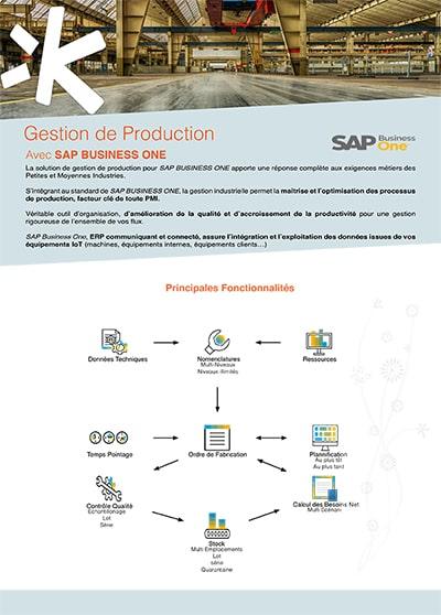 Logiciel de gestion de production SAP Business One