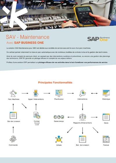 Logiciel SAP Business One pour la gestion du SAV et de la maintenance