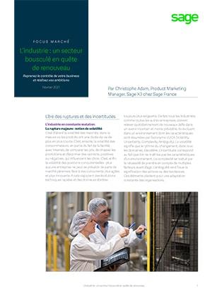 Focus industrie avec Sage X3